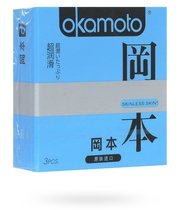 Презервативы Okamoto Skinless Skin Super lubricative c двойной смазкой, 3 шт. - Okamoto