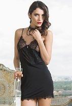 Пикантная кружевная сорочка Glamour, цвет черный, L - Mia-Mia