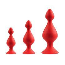 Набор анальных пробок Menzstuff 3-Piece Anal Pown Set, цвет красный - Dream toys