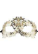 Золотистая металлическая маска Forrest Queen Masquerade - Shots Media