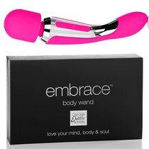 Вибратор двусторонний Embrace - Body Wand Massager, цвет розовый - California Exotic Novelties
