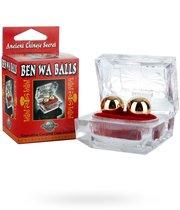 Золотистые вагинальные шарики Ben Wa Balls, цвет золотой - Pipedream