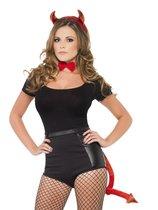 Комплект аксессуаров для костюма дьяволицы, цвет красный - Fever
