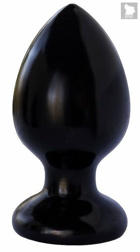 Черная анальная пробка MAGNUM 8 - 11,5 см., цвет черный - Lovetoy (А-Полимер)