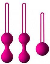 Набор из 3 вагинальных шариков Кегеля розового цвета, цвет розовый - МиФ