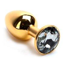 Анальная пробка Metal Gold 2,3 с кристаллом - Luxurious Tail
