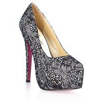 Туфли Dark Silver, с кристаллами, цвет серый - Hustler Shoes