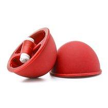 Вакуумный вибромассажер для сосков Red, цвет красный - Shots Media