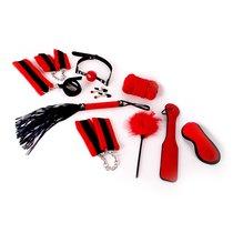 Набор БДСМ девайсов для начинающих Bondage Set | BDSM Starters Kit, цвет красный/черный - O-Products