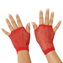 Митенки Wrist Length Fishnet Gloves, цвет красный, OS - Electric Lingerie