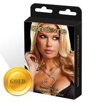 Цепочка с большой подвеской-сердцем, цвет золотой - Ann Devine