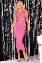 Длинное облегающее платье без бретелей BIG SPENDER SEAMLESS LONG DRESS, цвет розовый, S-L - Pink lipstick