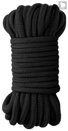 Черная веревка для бондажа Japanese Rope - 10 м., цвет черный - Shots Media