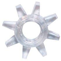Прозрачное эрекционное кольцо Rings Cogweel, цвет прозрачный - Lola Toys
