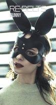 Маска с заячьими ушами Bunny Black - Rebelts