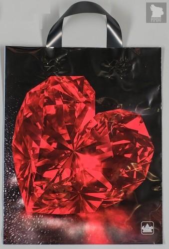 """Полиэтиленовый пакет """"Рубин"""" - 35 х 28 см., цвет красный/черный - Сима-Ленд"""