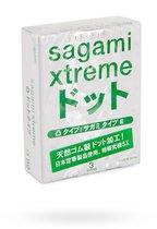 Презервативы Sagami Xtreme SUPER DOTS с точками - 3 шт. - Sagami