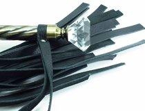 Плеть с широкими хлыстами и металлической ручкой - БДСМ арсенал