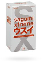 Ультратонкие презервативы Sagami Xtreme SUPERTHIN - 15 шт. - Sagami