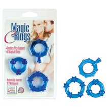 Колечки синие MAGIC C-RINGS, цвет голубой - California Exotic Novelties