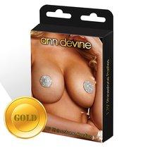 Пэстисы из золотистых кристаллов Shine, цвет золотой - Ann Devine